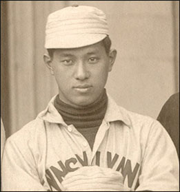 Takaki has been named the first person of Japanese ancestry to play baseball for a mainland U.S. college, according to Nisei Baseball Research Project.